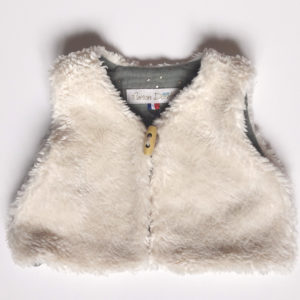 gilet de berger et double gaze kaki